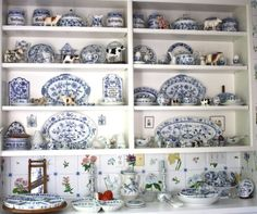 wonderful collection of Meissen and similar blue and white china