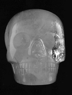 Max, The Texas Crystal Skull, known to be one of the 13 ancient crystal skulls of the world.
