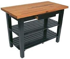 "John Boos Oak Table Boos Block With 2 Shelves & Drawer, 48"" W x 36&quot... - #block #Drawer #shelves #table - #InexpensiveFurniture Fast Furniture, Inexpensive Furniture, Online Furniture, Luxury Furniture, Repurposed Furniture, Industrial Furniture, Kitchen Furniture, Boos Blocks, Furniture Companies"