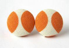 Orange earrings $8.90