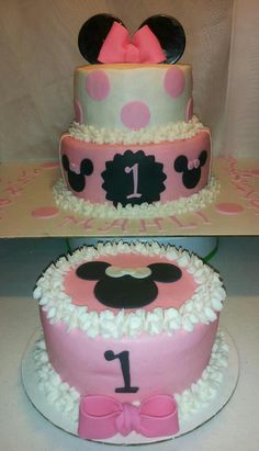 $62.00 Minnie Mouse cake with Smash