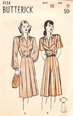 RARE Unused 1940s Vintage Butterick Pattern by daisyepochvintage, $14.00