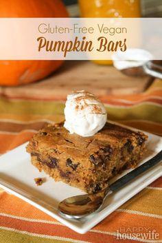 Pumpkin Bars - Gluten Free & Vegan