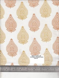 "Organic Cotton Yellow Orange Block Print Herbal by EcoFabricStore, $11.99 This would be lovely in my ""warm-tones, fairy tales of the world"" living room!"