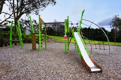 Playground in Auckland, New Zealand Auckland, Childcare, Playground, New Zealand, Sustainability, Park, Green, Design, Children Playground