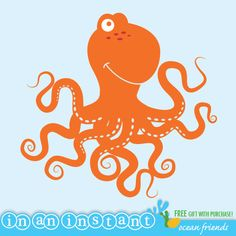 Octopus Vinyl Wall Decal for an Under the Sea or by InAnInstantArt, $18.00