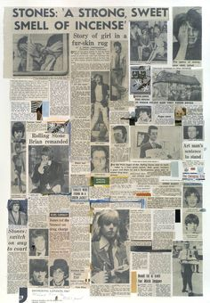 This poster is one of a group of paintings and prints Richard Hamilton made after his art dealer Robert Fraser and Mick Jagger, lead singer of the Rolling Stones, were arrested (and in Fraser's case eventually imprisoned) for the possession of drugs in 1967.