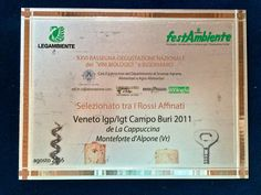 CAMPO BURI 2011  among the TOP ORGANIC RED WINES Festambiene Challenge 2016   http://www.lacappuccina.it/en/awards-campo-buri/
