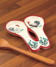 Rooster Double Spoon Rest
