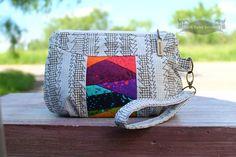 Free Blue Calla Sewing Pattern for Gerbera Wristlet Clutch | Happy Okapi Blog