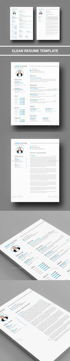 Resume Template Modern resume template, Modern resume and - professional resume paper