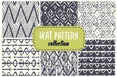 ikat pattern set