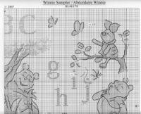 solo winnie the pooh Disney Cross Stitch Patterns, Cross Stitch Designs, Winnie The Pooh, Cross Stitch Alphabet, Pooh Bear, Disney Crafts, Free Pattern, I Am Awesome, Kids