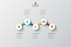 Set of vector squares, circles and other elements for infographic. Template for diagram, graph. Business concept with 5 and 6 options, parts, steps. Creative Flyer Design, Creative Flyers, Timeline Example, Infographic Templates, Infographics, Lorem Ipsum, Save Yourself, Texts, Presentation