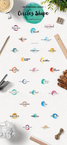 Handmade Brush Logo Creator by Refolve on @creativemarket