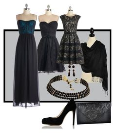 """""""Bridesmaid: Black"""" by shoppe23online ❤ liked on Polyvore"""