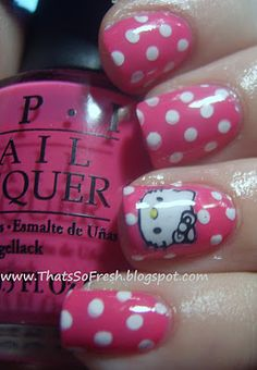 ThatsSOfresh: Hello Kitty Nails and Earrings?!