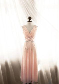 Great Gatsby 1920s Blush Dusty Pink Dress Medieval Grecian Pleated Elven Alice in Wonderland Flowy Fae Marie Antoinette Vintage Bespoke Gown