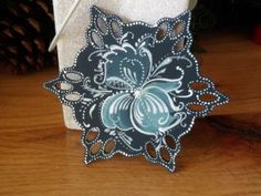 Norwegian Rosemaled Blue Snowflake by OlsenTrademarkCrafts on Etsy