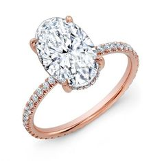 Maytal Hannah 2 carat oval diamond set it in rose gold