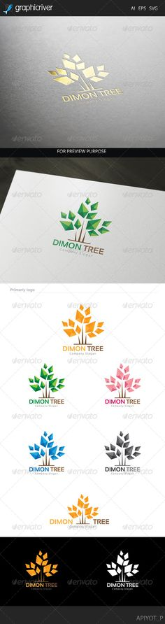 Dimon Tree Logo - Nature Logo Templates
