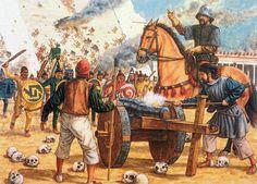 """1521 La Pintura y la Guerra """"Last stand at the Great Temple, Adam Hook Conquistador, Military Art, Military History, Renaissance, Spanish Heritage, Aztec Culture, Aztec Warrior, Inka, Mesoamerican"""
