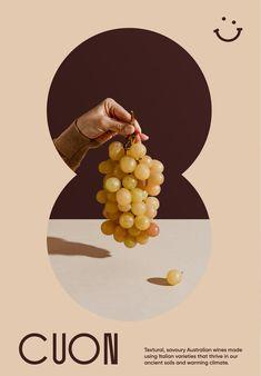 KL — Cuon Wine packaging Poster Layout, Print Layout, Layout Design, Print Design, Design Design, Design Trends, Graphic Design Posters, Graphic Design Typography, Branding Design