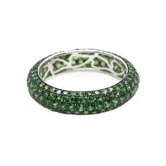 This beautiful tsavorite garnet band has been handcrafted in our Claremont workshop in white gold. It has been set with 200 sparkling tsavorite garnets. Contact us if you have any queries on this beautiful handcrafted tsavorite ring. Emerald Diamond, Diamond Cuts, Aquamarine Rings, Pink Sapphire Ring, Stone Earrings, Stone Bracelet, Stone Necklace, Stone Jewelry, Coloured Stone Rings