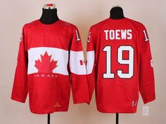 2014 Sochi Winter Olympic Team Canada 19 Jonathan TOEWS Red Jersey