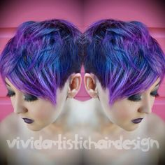 Galaxy Inspired Color Melt By Rebecca Taylor, Vivid. Artistic Hair Design