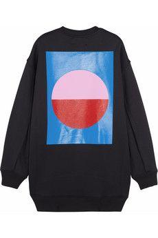 Acne Studios Beta Geometric printed scuba-jersey sweatshirt | NET-A-PORTER