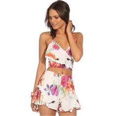 464b1129617f P89 Celebrity Style Women s Deep V Neck Floral Print Jumpsuits Playsuits Ladies  Overalls Summer Rompers Pants