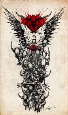 Demon Sleeve by *ShawnCoss on deviantART