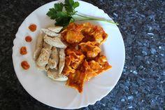 ravioli et blancs de poulets à la sauce Patak's