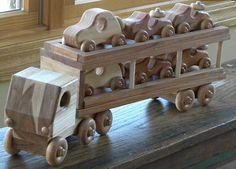 Loads Of Fun Wooden Toy Car Hauler  by grandpacharlieswkshp