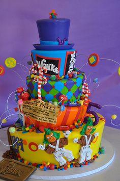 Willy Wonka cake [Willy Wonka & The Chocolate Factory]