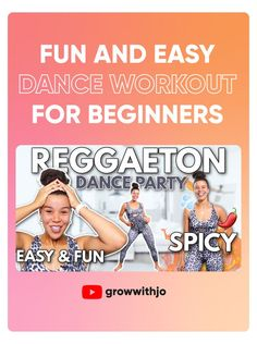 dance party workouts are fun, exciting, and ou do you ever get a sweat on! Burn 150 calories + with this quick and fun reggaeton dance workout for beginners! Walk The Weight Off, Easy Dance, Workout For Beginners, Burns, Fitness, Face, Party, Workouts, Reggaeton
