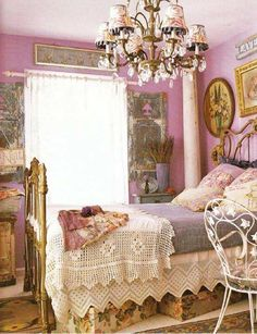 old fashioned bedroom more