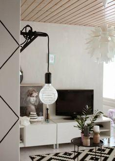 Valoisaa vaaleaa Living Room, Lighting, Decor Ideas, Home Decor, Decoration Home, Light Fixtures, Room Decor, Sitting Rooms, Living Rooms
