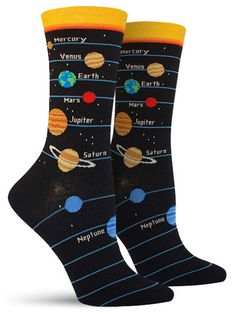 Named Planets Cool Novelty Socks for Women