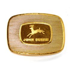 John Deere Logo 1986 Gold Limited Edition Belt Buckle