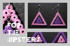 Earrings hama perler beads by Fia Design