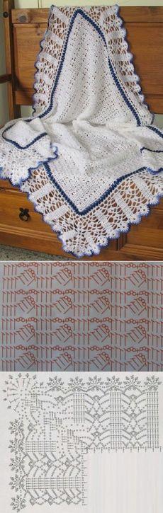 Delikli tığ battaniye