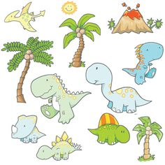 DINO WALL DECALS FOR LUCA