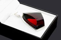 Genuine Amber Pendant Cognac Amber Pendant by AmberStoneRing