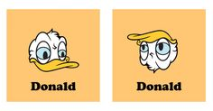 Donald Duck upside down is Donald Trump | Donald Trump | Know Your Meme