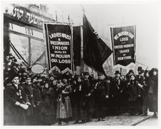 Demonstration of protest and mourning for Triangle Shirtwaist Factory fire in New York City, April 1911.
