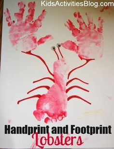 Handprint and Footprint Lobsters by Havalyn at Kids Activities Blog