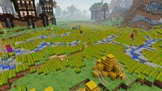 Minecraft Wheatfield and medieval set, by Falk DE Minecraft Barn, Mojang Minecraft, Minecraft Plans, Cool Minecraft, How To Play Minecraft, Minecraft Projects, Minecraft Architecture, Minecraft Buildings, Portal Knight