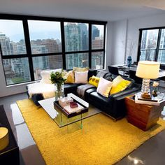 Living Room Black White Yellow Design Pictures Remodel Decor And Ideas Page